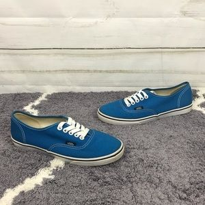 Vans Off The Wall Blue White Tie Sneakers Size 7